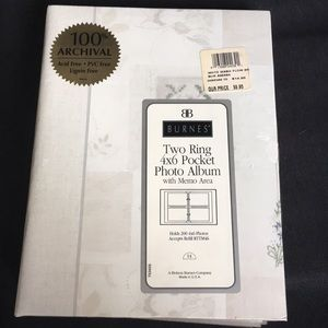 New Two Ring 4x6 Photo Album Holds 200 Photos